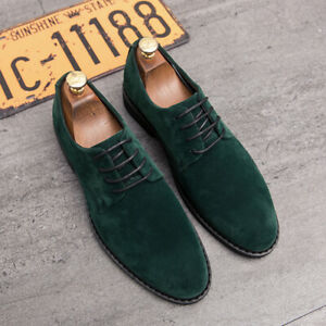 Mens Dress Formal Casual Suede Business Pointy Toe Wedding Shoes Oxford US9.5 SZ