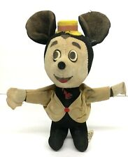"Vintage Walt Disney Productions - Mickey Mouse - Cloth Doll Japan 6"" Tall Plush"