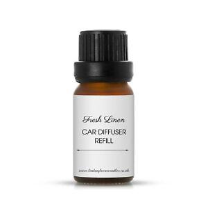 Fresh Linen strong Car Air Freshener Refill Liquid, Car Diffuser Oil