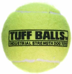 (3 Pack) PetSport Tuff Tennis Ball Dog Toy Industrial-Strength Non-Toxic 2.5-in