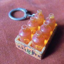 Porte-clés key ring Bière Belge Aremberg Casier de 6 bouteilles Blonde / Brune