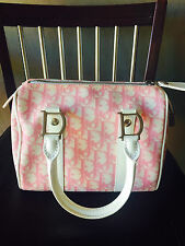 Dior Diorrissimo Coated Canvas Boston Pink Satchel