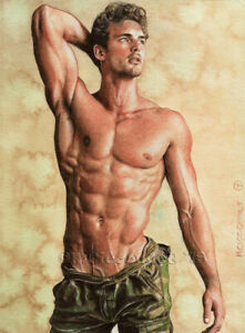 PRINT of Artwork Drawing Painting Male Gay Interest MCicconneT ~ SEASON CHANGE