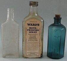 THREE OLD ADVERTISING MEDICINE BOTTLES TWO DR. WARD'S & ONE BLUE RUMFORD