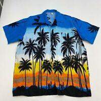 Jamaica Shirts Button Up Shirt Men's Size 2XL Short Sleeve Hawaiian Palm Trees