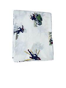 Pottery Barn Kids Twin Flat Sheet Super Man DC Comics Superhero 100% Cotton