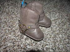 CARTER'S NB NEWBORN BROWN BOOTS BABY INFANT GIRLS 0