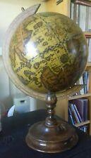 Vintage wooden old world Globe On Stand 7 inch diameter
