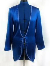 Victoria's Secret SEXY royal blue lingerie robe, Small, Braided Jewel Polyester