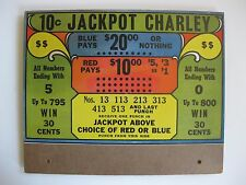 Unusual Type Vintage 10 Cent Jackpot Charley Punchboard Trade Stimulator Canada
