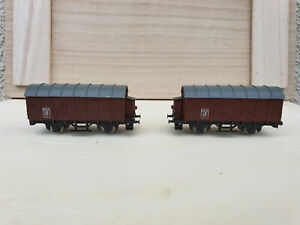 Rokal lot of 2 x freight wagons, spares or repair