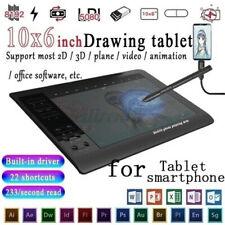 "10x6"" Large Screen Drawing Tablet Electronic Pressure Sensing Digital Boards Usa"