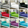 1000TC 100%EgyptianCotton 60cm Deep Wall Fitted Sheet-13 Colours Solid & AU Size
