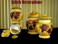 Tuscan Grape 4pcs Ceramic canister set Kitchen Decor