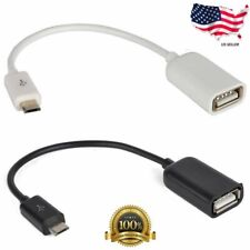 Micro USB B Male to USB 2.0 A Female OTG Adapter Converter Cable LG Samsung Sony