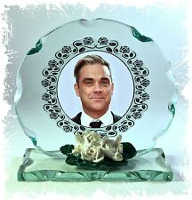 Robbie Williams Photo Cut Glass Round Plaque Ltd Edition Collection #4