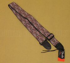 "099-0614-003 Fender 2"" Festival Hootenanny Guitar & Bass Strap Grey/Red"