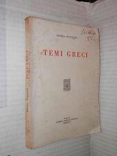 TEMI GRECI Angelo Nucciotti Morano 1935 libro manule corso greco classici di