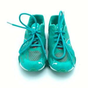 PUMA Mobium XT Graphic Sneaker Cross-Training Emerald/Yellow Women Shoe Size 7