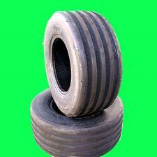 Two 18x8.50-8 V61 5-Rib 6 Ply John Deere Lawn Mower Garden Tractor Tires V7573