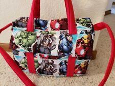 Marvel comics custom handmade Diaper Bag w/ch pad by Emijane free embroidery