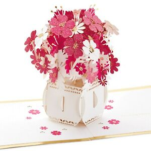 Hallmark Signature Happy Thoughts Flower Bouquet 3D Pop Up All Occasions