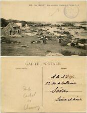 FRANCE JERSEY SHIP CACHET VAPEUR on PPC ANSE DE LA FERME CHANNEL ISLANDS c1911