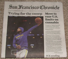 Golden State Warriors Champions San Fransisco Chronicle 6/9 Newspaper SWEEP