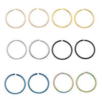 Pairs 20G Stainless Steel Round Hoop Helix Cartilage Stud Tragus Opened Ring NEW