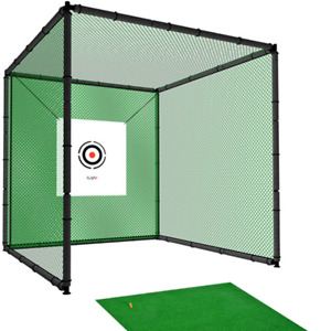 Hillman PGM 3m Heavy Duty Golf Practice Cage and Large Practice Mat Package