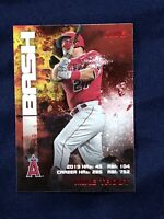 2020 TOPPS STADIUM CLUB (RED) MIKE TROUT BASH BURN BRB-2 (LOS ANGELES ANGELS)