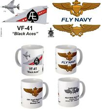 "VF-41 ""Black Aces"" F-4 Phantom or F-14 Tomcat mug."
