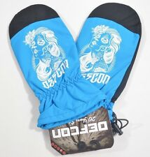2014 NWT DEFCON DEATHPROOF MITTENS $30 S caspian blue gloves throwback style