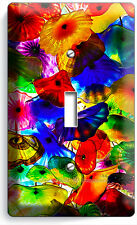 COLORFUL MURANO GLASS SINGLE LIGHT SWITCH WALL PLATE COVER LIVING DINING ROOM