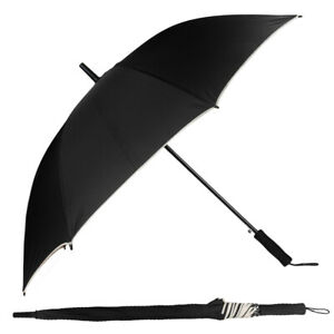 Men Women Auto Open Long Handle Extra Large Windproof Anti-UV Sun Rain Umbrella