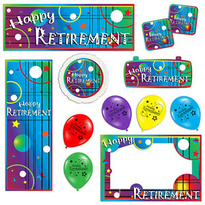 Happy Retirement Celebration Banners Decorations Balloons Party Supplies