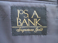 Jos. A. Bank Suit 40S 34x35 (Unf.) NWT Signature Gold Gray Pinstripe 100% Wool