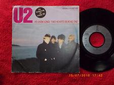 U2 - 40 ( How long ) / Two hearts beats as one      rare German Top Island 45