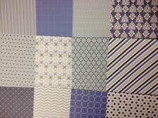 12 SHEET BACK TO BASICS BLUE SKIES TASTER PACK 8 x 8 CARD MAKING BACKING PAPER