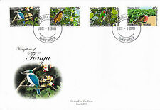 Tonga 2013 FDC Birds Definitives Pt 2 12v / 3 Covers Bird Frigatebird Kingfisher
