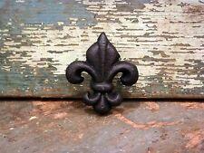 Black Cast Iron Handle Pull Knob Set/4 Cabinet Door Drawer Home Hardware Decor