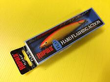 Rapala Flat Rap FLR-10 GFR, Gold Fluorescent Red Color Lure, NIB.