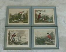 4 VINTAGE A SUNTACH HUNTING PRINTS IN FRENCH FROM THE PAINTINGS BY MORLAND
