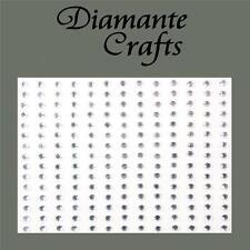 195 x 3mm Clear Diamante Self Adhesive Rhinestone Craft Embellishment Gems