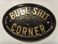 BULL SHI* CORNER PLAQUE IDEAL PUB OFFICE SHOP SIGN
