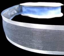 "3 Yards SALE Solid Blue Sheer Satin Edge Ribbon 1 1/2""W"
