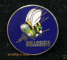 SEABEES WWII SEABEE LAPEL HAT PIN UP SEA BEE US NAVY VETERAN CONSTRUCTION MCB