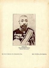 General Oku. Führer der japanischen Westarmee. Bilddokument von 1905