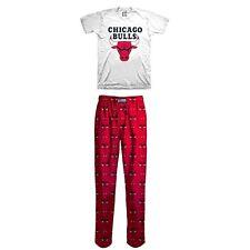 NWT NBA Chicago Bulls Boys Basketball Lounge Pants T-shirt Pajama Set Size 4