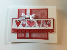 Stampin Up Valentine Poppy Parade Love Watercolor 5 Card Kit Pink Red White